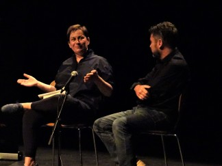 david butler interviewing ann enright at the mermaid arts centre