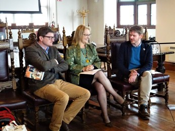 human rights activist tony daly interviews poet and writer michael whelan and writer helena mulkerns